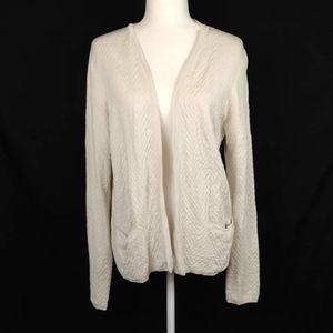 Eileen Fisher Silk Organic Cotton Cardigan Size M